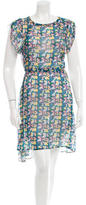 Band Of Outsiders Silk Floral Print Dress