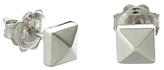 Chimento 18K White Gold Armillas Pyramis Collection Square Stud Earrings