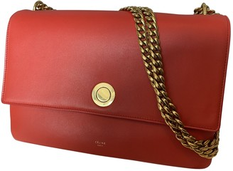 Celine Orange Leather Handbags