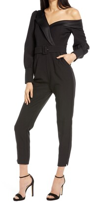 Lavish Alice Tailored Off the Shoulder Jumpsuit
