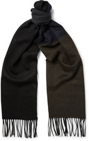 Lanvin - Fringed Colour-block Cashmere Scarf