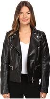 Belstaff Sidney Nappa Satin Leather Jacket Women's Coat