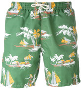Drumohr tropical print swim shorts - men - Cotton - S