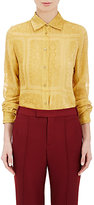 Maison Margiela Women's Devoré Blouse-YELLOW
