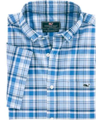 Vineyard Vines Classic Short-Sleeve Blackbeard Plaid Tucker Shirt