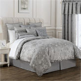 Marquis by Waterford Samantha Platinum Floral 4-pc. Jacquard Comforter Set