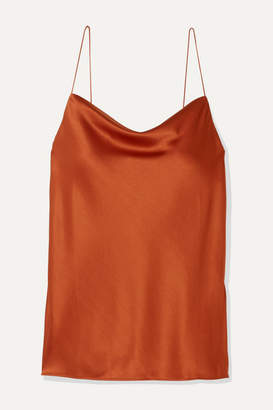 CAMI NYC The Axel Draped Stretch-silk Charmeuse Camisole - Orange