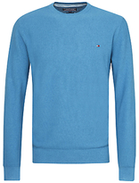 Tommy Hilfiger Combed Cotton Crew Neck Jumper, Blue