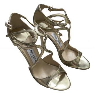 Jimmy Choo Gold Leather Heels