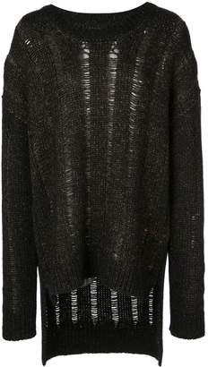 UMA WANG distressed knit jumper