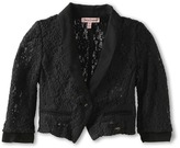 Juicy Couture Stretch Lace Blazer (Toddler/Little Kids/Big Kids) (Pitch Black) - Apparel