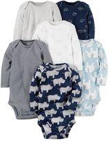 Carter's Baby Boy 6-pk. Print Long Sleeve Bodysuits