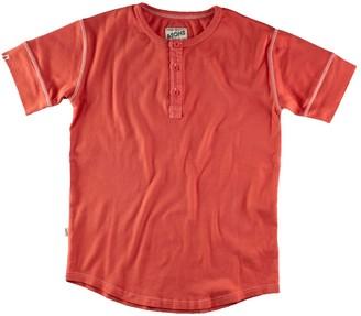 &Sons Trading Co The New Elder Henley Short Sleeve Shirt Vintage Red