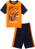 Ecko Unlimited Orange & Blue Raw & Uncut Tee & Shorts - Toddler & Boys