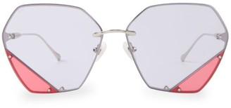 For Art's Sake Icy Light 62MM Hexagon Sunglasses