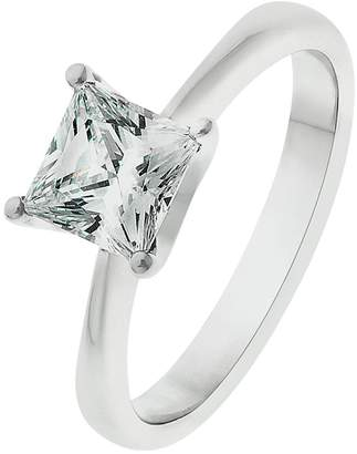 Revere Sterling Silver Princess Cut Cubic Zirconia Ring