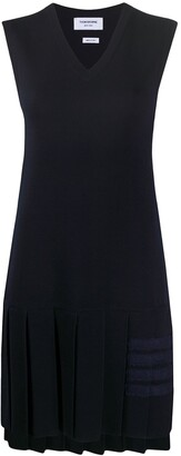 Thom Browne 4-Bar pleated dress