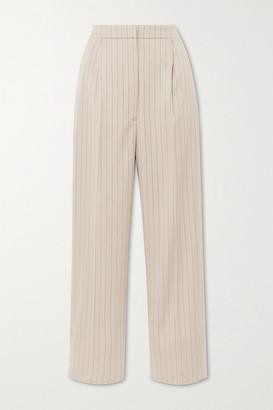 MUNTHE Ed Pinstriped Twill Straight-leg Pants - Beige
