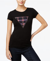 GUESS Plaid Graphic T-Shirt
