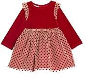 Pippa & Julie Girls' Stretch Velvet Top Dress - Little Kid