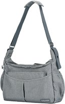 Babymoov Urban-Diaper Bag with Changing Pad, Shoulder Strap and 3 Piece Baby Travel Accessories, Smokey Gray