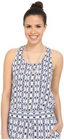 BB Dakota Tosy Inkblot Stripe Printed Rayon Crepe Waterfall Tank Top