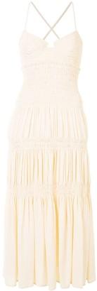 Proenza Schouler Bustier Smocked Dress
