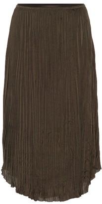 Vince Pleated-crepe skirt