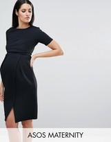 Asos Maternity Double Layer Textured Smart Dress