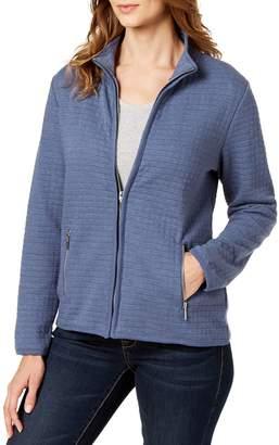 Karen Scott Petite Quilted Full-Zip Jacket
