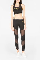 Monreal London Waterfall Mesh-Panel Leggings