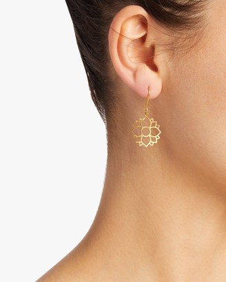 Pippa Small Burmese Single Lotus Earrings