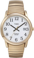 Timex Easy Reader Mens Gold-Tone Stainless Steel Expansion Strap Watch T2H3019J