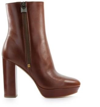Michael Kors Frenchie Light Brown Platform Ankle Boot