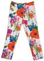 Ralph Lauren Blue Label Ivory Floral Print Pants