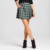K by Kersh Women's Plaid A-Line Skirt with Pockets