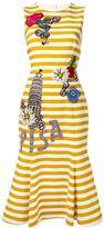 Dolce & Gabbana embellished striped dress