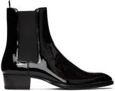 Saint Laurent Black Patent Wyatt Chelsea Boots