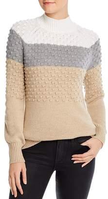 Calvin Klein Color-Blocked Popcorn-Knit Sweater
