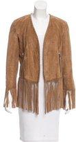 Barbara Bui Fringe Leather Jacket