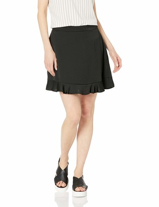 Cupcakes And Cashmere Women's zeke Satin Flounce Skirt