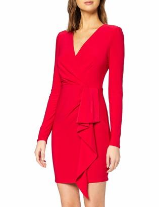 New Look Women's GO LS WRAP RUF DTL DRESS Casual