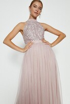Thumbnail for your product : Coast Sequin Bodice Halter Maxi Dress