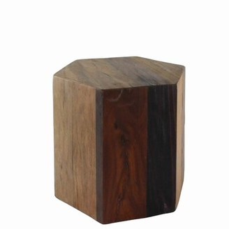Foundry Select Doric Solid Wood Block End Table