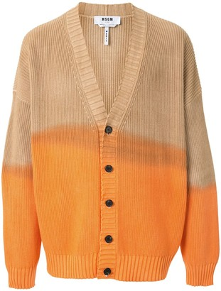 MSGM Faded Two-Tone Cardigan