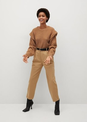 MANGO Knitted sweater with shoulder pads