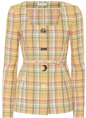 REJINA PYO Martina checked blazer