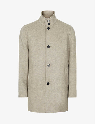 Reiss Bellugi funnel-neck wool-blend coat