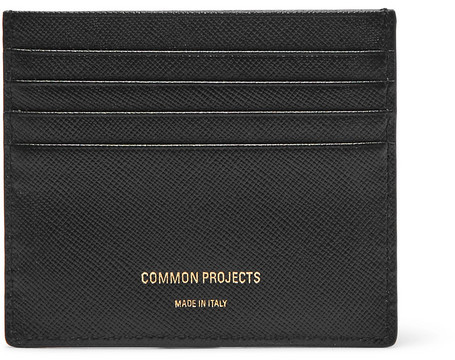 Common Projects Cross-grain Leather Cardholder - Black