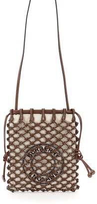 Burberry Drawstring A Mesh Crossbody Bag